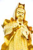 Guan-im Bhodisatva Statue. Golden goddess of mercy statue Royalty Free Stock Image
