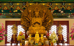 Guan Im Wat Leng NEI yi NONTHABURI, ΤΑΪΛΆΝΔΗ Στοκ Εικόνες