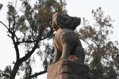Luoyang Guan Lin. Guan Lin, in order to bury the Three Kingdoms, the first place of Guan Yu, the former as the ancestral temple, then the tomb, located in Guan stock image