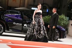Guan Xiaotong walks the red carpet Royalty Free Stock Images
