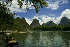 Guan Yan Li River scenery Royalty Free Stock Photo