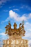 guan yin древесины статуи Стоковые Фото