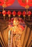 Guan Yin. Gold color paint Guan Yin statue royalty free stock photos