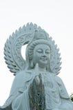 Guan Yin blanco en Tha Ton Temple fotografía de archivo