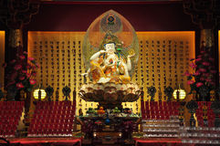 Guan Yin in Buddha Tooth Relic Stock Photos