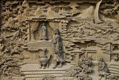 Guan Yin carved wooden Royalty Free Stock Photo