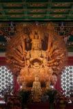 Guan Yin cinzelado madeira Fotografia de Stock Royalty Free