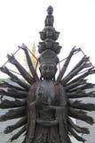 Guan Yin en bronze, Chine Photos libres de droits
