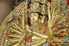 Guan Yin. Gold Thousand-hand Royalty Free Stock Photos
