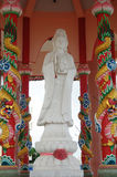 Guan Yin. Guanyin is the bodhisattva associated with compassion as venerated by East Asian Buddhists, usually as a female. The name Guanyin is short for Stock Image