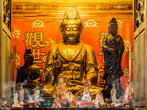 Guan Yin (Kwan Yin) Goddess Golden Statue Royalty Free Stock Photos