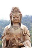 Guan Yin Made del latón. Imagen de archivo