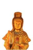 Guan-yin mit Isolathintergrund Lizenzfreie Stockfotos