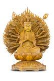 Guan Yin op witte achtergrond met het knippen van weg Royalty-vrije Stock Fotografie