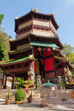 Guan Yin pagoda at place of Tiger Cave Temple (Wat Tham Suea). Krabi. Thailand Stock Images