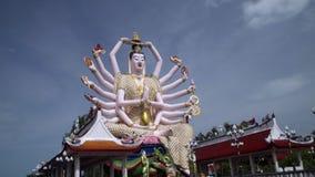 Guan Yin statua przy Plai Laem świątynią Główny symbol i Popularny wyspa punkt zwrotny - Turystyka i zwiedzać zbiory