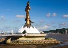 Guan Yin Statue Macao Royaltyfria Bilder