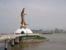 Guan Yin Statue at Macau Stock Photo
