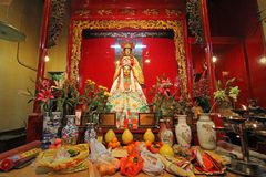 Guan Yin statue at Man Mo temple Royalty Free Stock Images