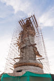 Guan Yin statue under construction Stock Images
