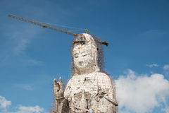 Guan Yin statue under construction, Wat huay pla kang Royalty Free Stock Images