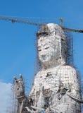 Guan Yin statue under construction, Wat huay pla kang Royalty Free Stock Photo