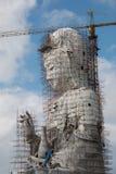 Guan Yin statue under construction, Wat huay pla kang Stock Photography