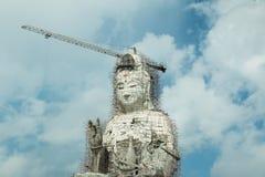 Guan Yin statue under construction, Wat huay pla kang Royalty Free Stock Image