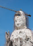 Guan Yin statue under construction, Wat huay pla kang Stock Image