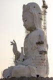 Guan Yin statue under construction, Wat huay pla kang Stock Photos