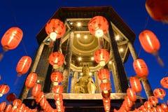 Guan yin temple. Bronze statue of Kuan Yin / Guan Yin (Goddess of Mercy) at Kek Lok Si Temple, Penang, Malaysia Stock Image
