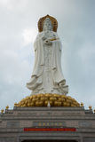 Guan Yin white marble statue Royalty Free Stock Image