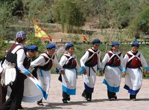 Guan Yin Xia, China: Naxi Women Dancing Royalty Free Stock Photos