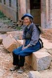 Guan Yin Xia, China: Woman Farmer Royalty Free Stock Images