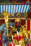Guan Yu в китайском виске Стоковое Изображение RF