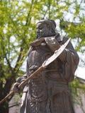 guan yu статуи r Перемещение в городе Jingzhou, Китае i стоковые изображения