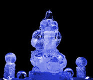 Guan Yu ice sculpture blue Royalty Free Stock Photo