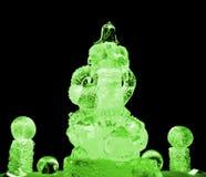 Guan Yu ice sculpture green Stock Photography