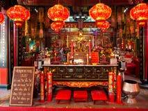 Guan Yu Shrine in Bangkok, thaikand stock foto's