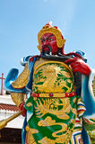 Guan Yu statue in chinese temple. Close up of Guan Yu statue in chinese temple Stock Images