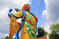 Guan Yu Statue At Guan Yin Temple, Hatyai Municipal Park, Hatyai, Thailand. Hatyai Municipal Park is a local park located in the southern city of Hatyai in Royalty Free Stock Photography