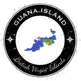 Guana Island circular patriotic badge. Royalty Free Stock Photography
