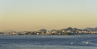 Guanabara Bay. And the city of Niterói in the background Royalty Free Stock Image
