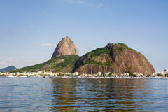 Guanabara Bay Rio de Janeiro. Guanabara Bay, Rio de Janeiro with Sugar Loaf in the background royalty free stock images