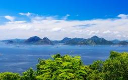 Guanabara bay in Rio de Janeiro Royalty Free Stock Photo