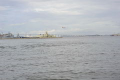 Guanabara bay in Rio de Janeiro, Brazil. Royalty Free Stock Photos