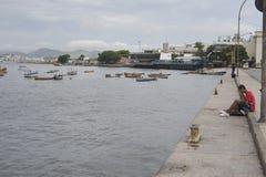 Guanabara bay in Rio de Janeiro, Brazil. Stock Photos