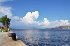 Guanabara zatoka widzieć od Pracy Maua Fotografia Royalty Free