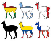 Guanaco flags Royalty Free Stock Photos