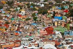 Guanajuato городок много цветов Стоковые Изображения RF